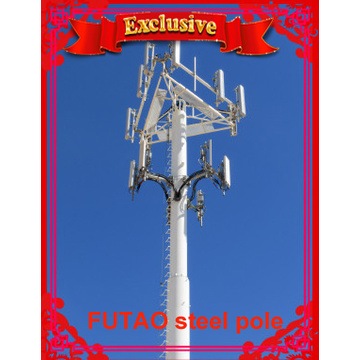36M Communication Tower With Wireless Equipment