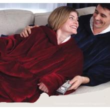 Флисовое одеяло шерпа с рукавом