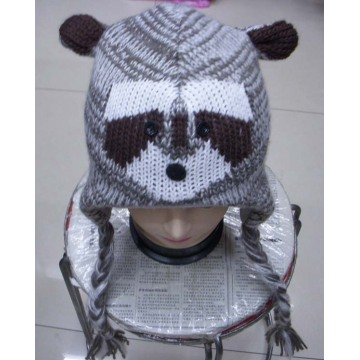 Sombrero adorable animal invierno tejida a mano
