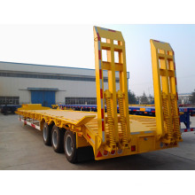 Cimc Trailer Loading Escavadeira Wheel Loader Trailer Truck