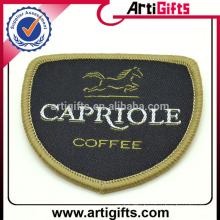 Wholesale cheap custom fabric badges for clothing