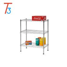 cesta de malla de alambre estantería estantería de alambre de 3 niveles diy estantería de alambre