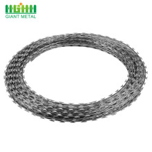 Harga Rendah Concertina Galvanized Razor Blade Barbed Wire