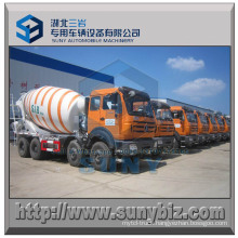 10 M3 8X4 North Benz Concrete Mixer Drum Truck