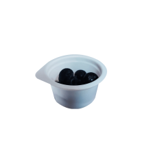 Round Write Plastic Blister Souffle Portion Sauce Cup