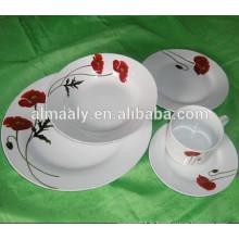 ensemble de vaisselle de fête en céramique ronde