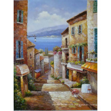 Peintures à l'huile méditerranéennes peintes à la main
