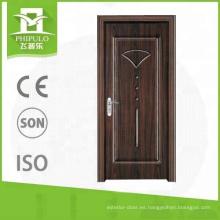 Puerta de madera de la melamina interior del panel contemporáneo del MDF de la venta caliente