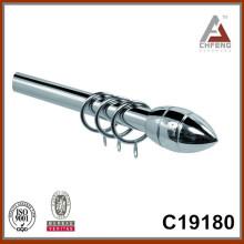 C19180 barra extensible de la cortina, poste extensible de la cortina, barra doble de la cortina, finial de la barra de la cortina del metal