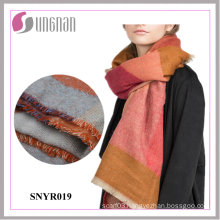 2015 Latest Winter Colorful Geometry Imitate Cashmere Scarf Women′s Shawl
