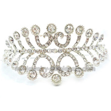 Fashion White Bride Elegant Wedding Crown Comb Ornaments