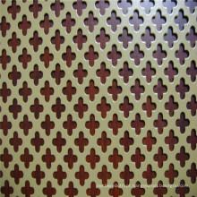 Metal perfurado decorativo de vários tipos do furo