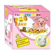 o mealheiro de tinta cerâmica (porco) (8081)