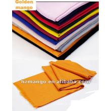 Clásico 100% mercerizado lana bufanda de color sólido y mantón