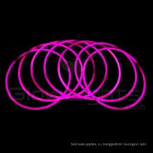 розовое свечение светящийся жезл ожерелье