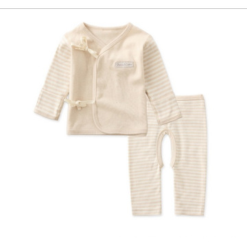 Colored Cotton Striped Baby Clothing Set