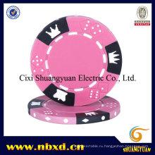 14G 3-тональный Crown Dice Clay Poker Chip (SY-E06)