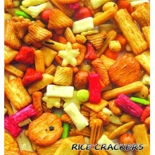Chrismas party rice cracker snack