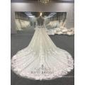 Nach Maß Hochzeitskleid Brautkleid Goldene Kristalle Transparent Langarm Brautkleider Plus Size Frauen Kleider