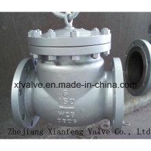 Válvula de retención de colada de extremo de brida de acero fundido de uso industrial ANSI