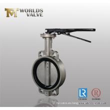Válvula de mariposa Wafer de acero inoxidable (WDS)