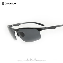 Cramilo 2018 Aluminum Magnesium UV400 Sunglasses Men Polarized Sunglasses Aluminum sunglasses