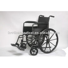 Black Powder Coated Steel Manual Wheelchair with Mag Wheel
