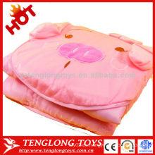 OEM hot sale caliente y suave caricatura de dibujos animados almohada manta de almohada