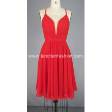 Red Short Red Carpet Dress Chiffon Prom Dresses