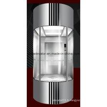 Yida Panoramic Elevator avec panneau de verre trempé de sécurité (JQ-A005)