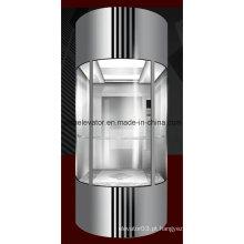 Elevador panorâmico de Yida com o painel de vidro temperado da segurança (JQ-A005)