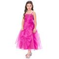 Grace Karin Spaghetti Straps Flower Girl Princess Deep pink Pageant Party Dress CL010406-2