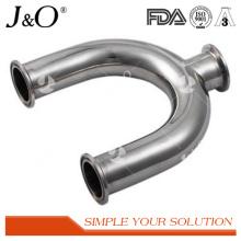 Accesorio de tubería de acero inoxidable sanitario Codo de tubo en U