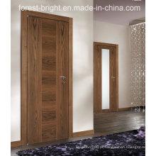 China Único folheado Interior Interior Curvo Flush Porta Interior