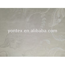 100% cooton white jacquard fabric use for hotel bedding set