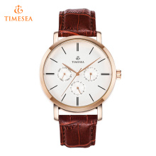 Business Casual Watches Men Water Resistant Leather Quartz Watch 72376
