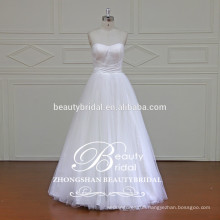Qualified Pretty A-Line Shape Strapless Sweetheart Wedding Gown with No Applique Lace