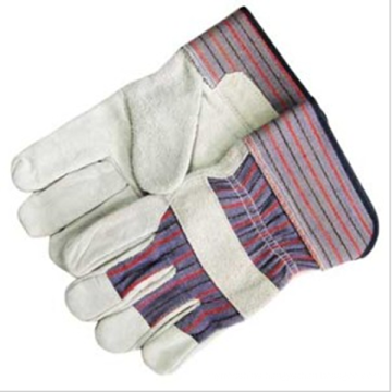 . Safety Working Cow Split Leather Gloves.