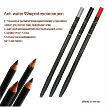 Crayon de maquillage pour maquillage permanent (Goochie) Anti-Water Eyebrow / Lip / Eyeliner pour maquillage permanent
