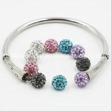 Venda quente bracelete de aço inoxidável DIY para meninas