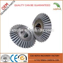 HOT vendant un petit engrenage en aluminium à faible conception, engrenage en acier et équipement en fer