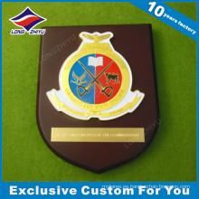 Placa de madera de escuela de esmalte suave con logotipo de estrella