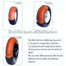 neumático de goma con la rueda de la espuma de PU
