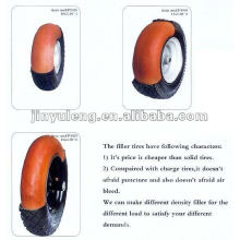 rubber tire with PU foam wheel