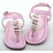 2016 zapatos al aire libre del niño de la sandalia plana más nueva del niño de la muchacha