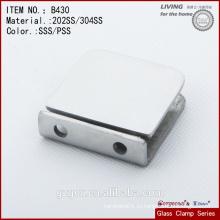 Безрамный нержавеющий стальной зажим / стеклянный соединитель- / 0-градусный зажим для стеклянной двери