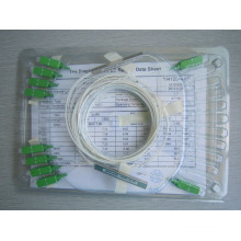 Mini tipo tubo de aço plc fibra óptica divisor de cartão, preço óptico ao ar livre divisor bom