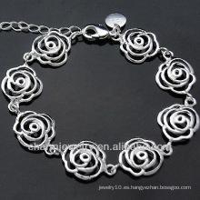 Moda hembra de plata encanto pulsera Plata Charm Joyería BSS-032