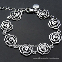 Fashion Female silver charm bracelet Silver Charm Jewelry BSS-032
