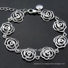 Мода Женский серебряный браслет шарма Серебряные украшения Шарм BSS-032